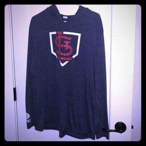 Tops - Blue St Louis Cardinals hooded shirt